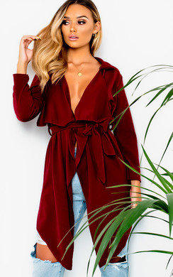 View the Diana Long-Sleeved Waterfall Coat online at iKrush