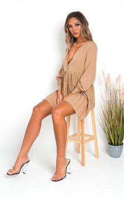 View the Diana Pleated Shirt Dress online at iKrush