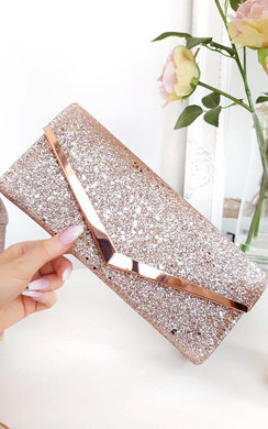 View the Dionne Sequin Clasp Clutch Bag online at iKrush