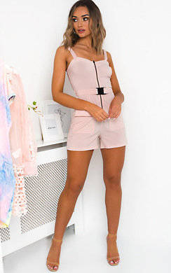 View the Dionne Zipped Utility Playsuit online at iKrush