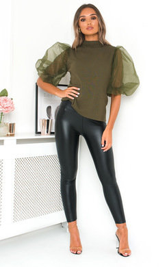View the Dollie Sheer Sleeve Jumper online at iKrush