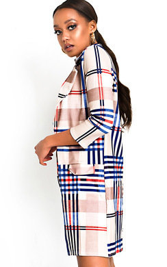 View the Dolly Check Print Longline Blazer online at iKrush
