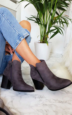 View the Dolly Faux Suede Pointed Boots online at iKrush
