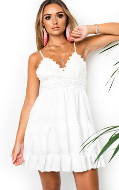 View the Dora Frill Crochet Backless Dress online at iKrush