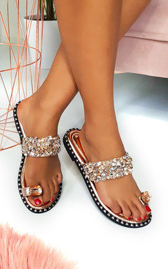 View the Dorothy Embellished Open Toe Sandals online at iKrush