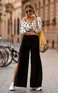 View the Dotty Polka Dot Tie Crop Blouse online at iKrush