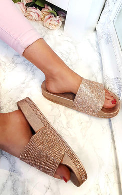 View the Duffy Diamante Chunky Sliders online at iKrush