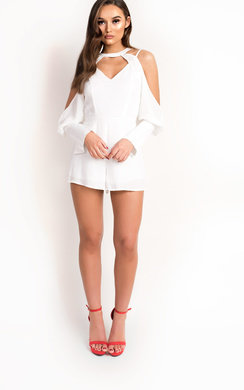 View the Eden Cold Shoulder Cut Out Playsuit online at iKrush