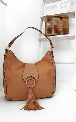 View the Edra Tassel Slouch Handbag online at iKrush