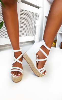 View the Effie Strappy Faux Leather Wedges online at iKrush