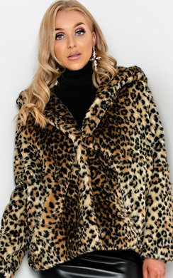 View the Eilidh Faux Fur Jacket online at iKrush