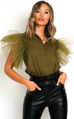 View the Eilish Tulle Over Shirt  online at iKrush