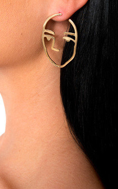 View the Elanie Face Statement Earrings  online at iKrush