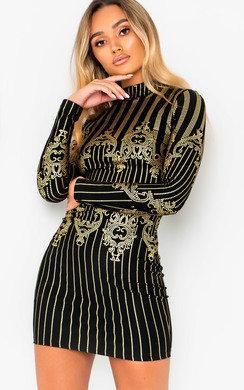 View the Eldora Printed Bodycon Dress online at iKrush