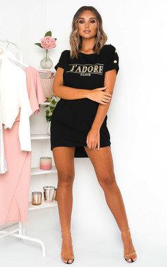 View the Elizabeth Oversized T-Shirt Dress online at iKrush