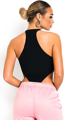 View the Ella Racerback Basic Ribbed Bodysuit online at iKrush