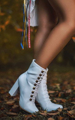 View the Elle Faux Leather Corset Ankle Boots online at iKrush