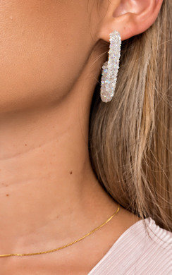 View the Ellie Crystal Hoop Earrings  online at iKrush