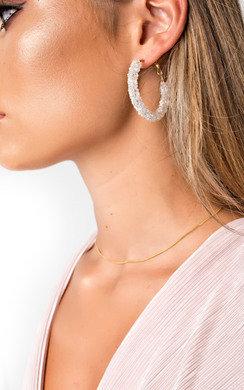 View the Ellie Crystal Hoop Earrings  online at iKrush
