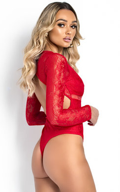 View the Ellie V Neck Mesh Backless Bodysuit online at iKrush