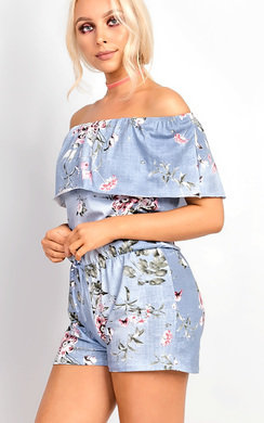 View the Ellisa Off Shoulder Frill Playsuit online at iKrush