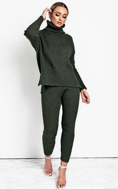 View the Elma Knitted Poloneck Lounge Co-ord online at iKrush
