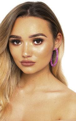 View the Elsie Crystal Hoop Earrings  online at iKrush