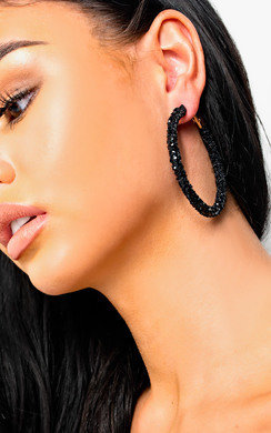 View the Elsie Crystal Hoop Earrings  online at iKrush