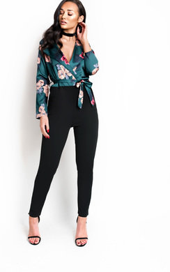 View the Elsie Floral Blouse Jumpsuit  online at iKrush