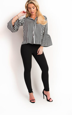 View the Elsie Stripe Collared Shirt online at iKrush