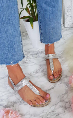 View the Emie Embellished T-Bar Wedged Sandal online at iKrush