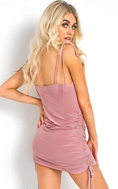 View the Emilee Slinky Bodycon Tie Dress online at iKrush