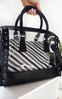 View the Emilee Transparent Two in One Tote Handbag online at iKrush