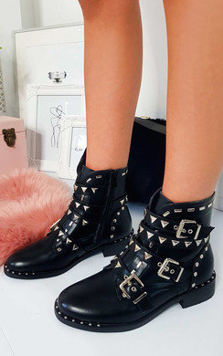 View the Emilie Buckle Ankle Boots  online at iKrush
