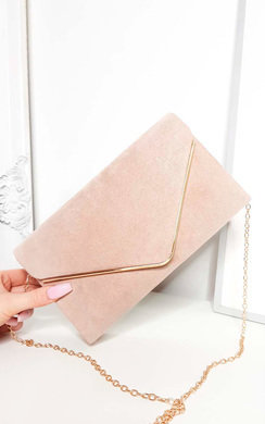 View the Emily Faux Suede Envelope Clutch Bag online at iKrush