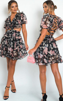 View the Emily Tie Back Frill Dress online at iKrush