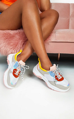 View the Emma Chunky Colour Block Trainers online at iKrush