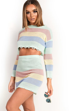 View the Emmie Stripe Knitted Co-ord online at iKrush