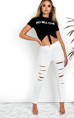 View the Emmy Slogan Crop Top online at iKrush