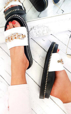 View the Emnia Chain Embellished Sliders  online at iKrush