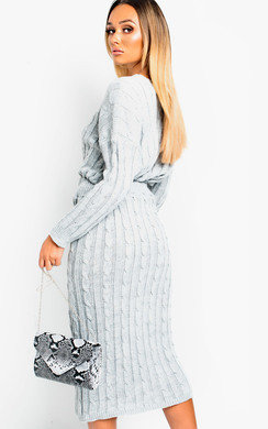 View the Enya Cable Knit Co-ord online at iKrush