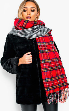View the Erika Soft Tartan and Dog Tooth Scarf online at iKrush