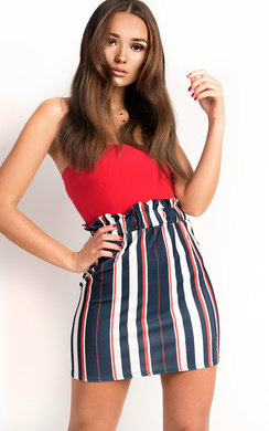 View the Erin Paperbag Striped Skirt online at iKrush