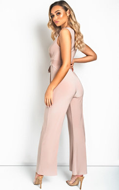 View the Errin V Neck Wide Leg Jumpsuit online at iKrush