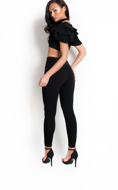 View the  Esme Frill Cropped Co-ord online at iKrush