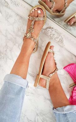 View the Esmi Peep Toe Embellished Sandal online at iKrush