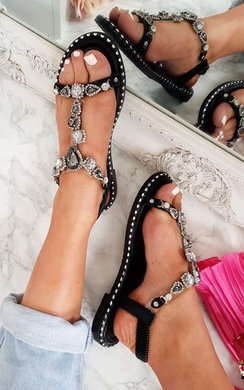 View the Esmi Peep Toe Embellished Sandal online at iKrush