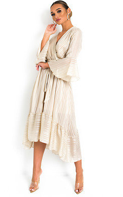 View the Etta Shimmer Frill Maxi Dress online at iKrush