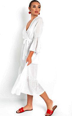 View the Etta Shimmer Frill Maxi Dress online at iKrush