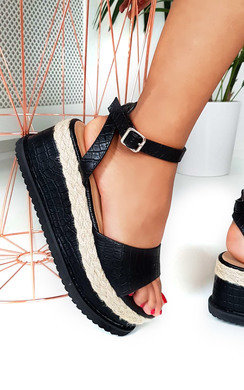 View the Eva Flatform Sandals online at iKrush
